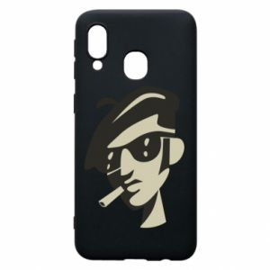 Samsung A40 Case Guy with a cigarette