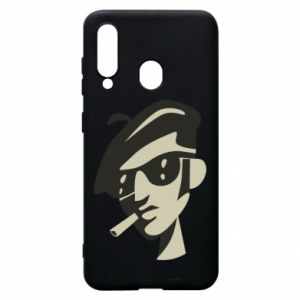 Samsung A60 Case Guy with a cigarette