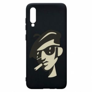 Samsung A70 Case Guy with a cigarette