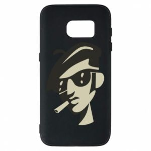 Samsung S7 Case Guy with a cigarette