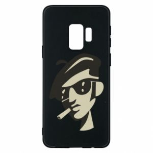 Samsung S9 Case Guy with a cigarette