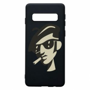 Samsung S10 Case Guy with a cigarette