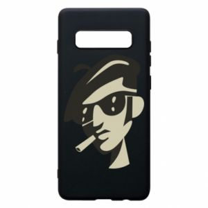 Samsung S10+ Case Guy with a cigarette