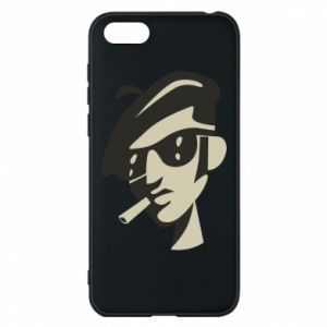 Huawei Y5 2018 Case Guy with a cigarette