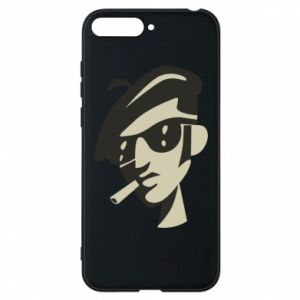 Huawei Y6 2018 Case Guy with a cigarette