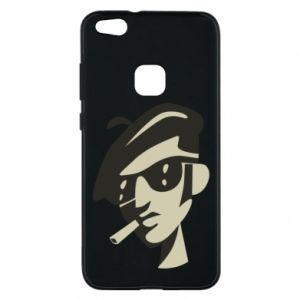 Huawei P10 Lite Case Guy with a cigarette