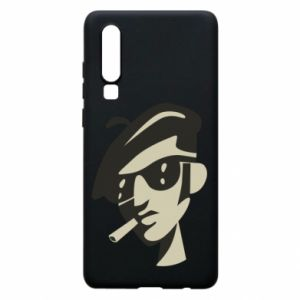 Huawei P30 Case Guy with a cigarette