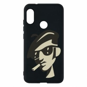 Mi A2 Lite Case Guy with a cigarette