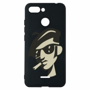 Xiaomi Redmi 6 Case Guy with a cigarette