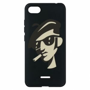 Xiaomi Redmi 6A Case Guy with a cigarette