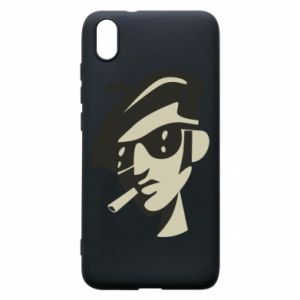 Xiaomi Redmi 7A Case Guy with a cigarette