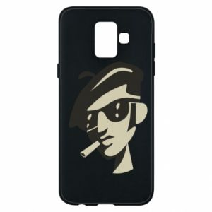 Samsung A6 2018 Case Guy with a cigarette
