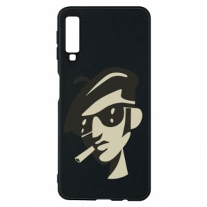 Samsung A7 2018 Case Guy with a cigarette