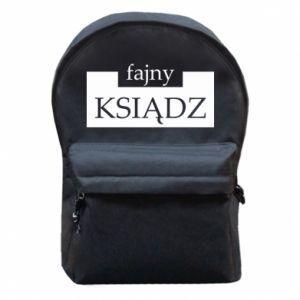 Plecak z przednią kieszenią Fajny ksiądz