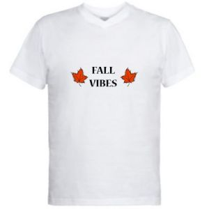 Men's V-neck t-shirt Fall vibes