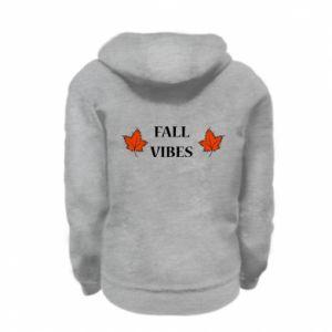 Kid's zipped hoodie % print% Fall vibes