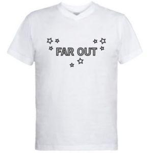 Męska koszulka V-neck Far out