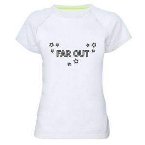 Damska koszulka sportowa Far out