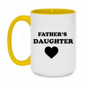 Two-toned mug 450ml Father's daughter