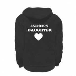 Kid's zipped hoodie % print% Father's daughter