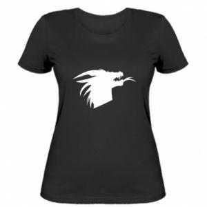 Damska koszulka Ferocious dragon in profile