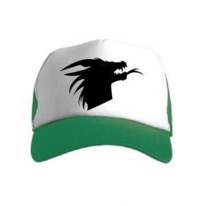Czapka trucker dziecięca Ferocious dragon in profile