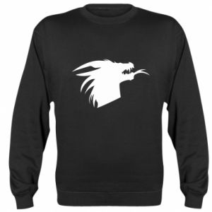 Bluza (raglan) Ferocious dragon in profile