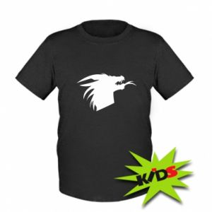 Dziecięcy T-shirt Ferocious dragon in profile