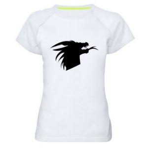 Damska koszulka sportowa Ferocious dragon in profile