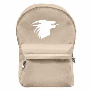 Plecak z przednią kieszenią Ferocious dragon in profile