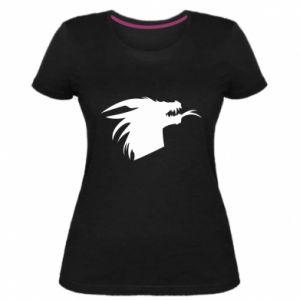Damska premium koszulka Ferocious dragon in profile