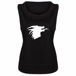 Damska koszulka bez rękawów Ferocious dragon in profile