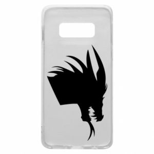 Etui na Samsung S10e Ferocious dragon in profile