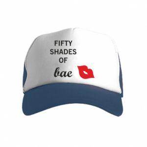 Czapka trucker dziecięca Fifty shades of bae