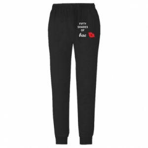 Spodnie lekkie męskie Fifty shades of bae