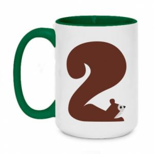 Two-toned mug 450ml Figure squirrel for 2 years