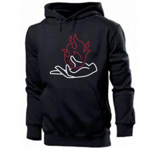 Men's hoodie Fire in hand