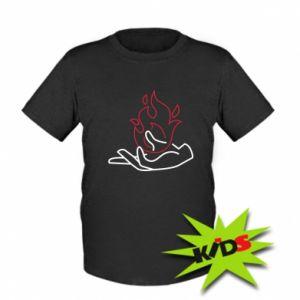 Dziecięcy T-shirt Fire in hand