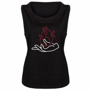 Damska koszulka bez rękawów Fire in hand