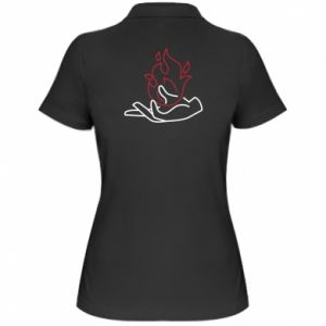 Damska koszulka polo Fire in hand