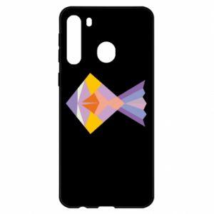 Etui na Samsung A21 Fish abstraction