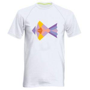 Męska koszulka sportowa Fish abstraction