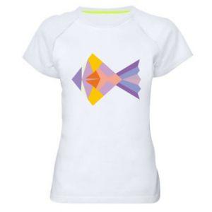 Damska koszulka sportowa Fish abstraction