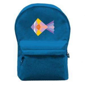 Plecak z przednią kieszenią Fish abstraction