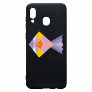 Etui na Samsung A20 Fish abstraction