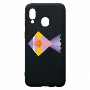 Etui na Samsung A40 Fish abstraction