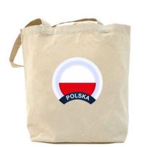 Torba Flaga Polska okrągła