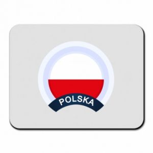 Mouse pad Flag Of Poland round
