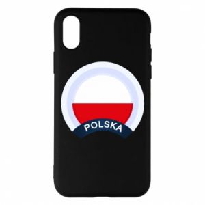 iPhone X/Xs Case Flag Of Poland round