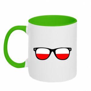Two-toned mug Flag of Poland